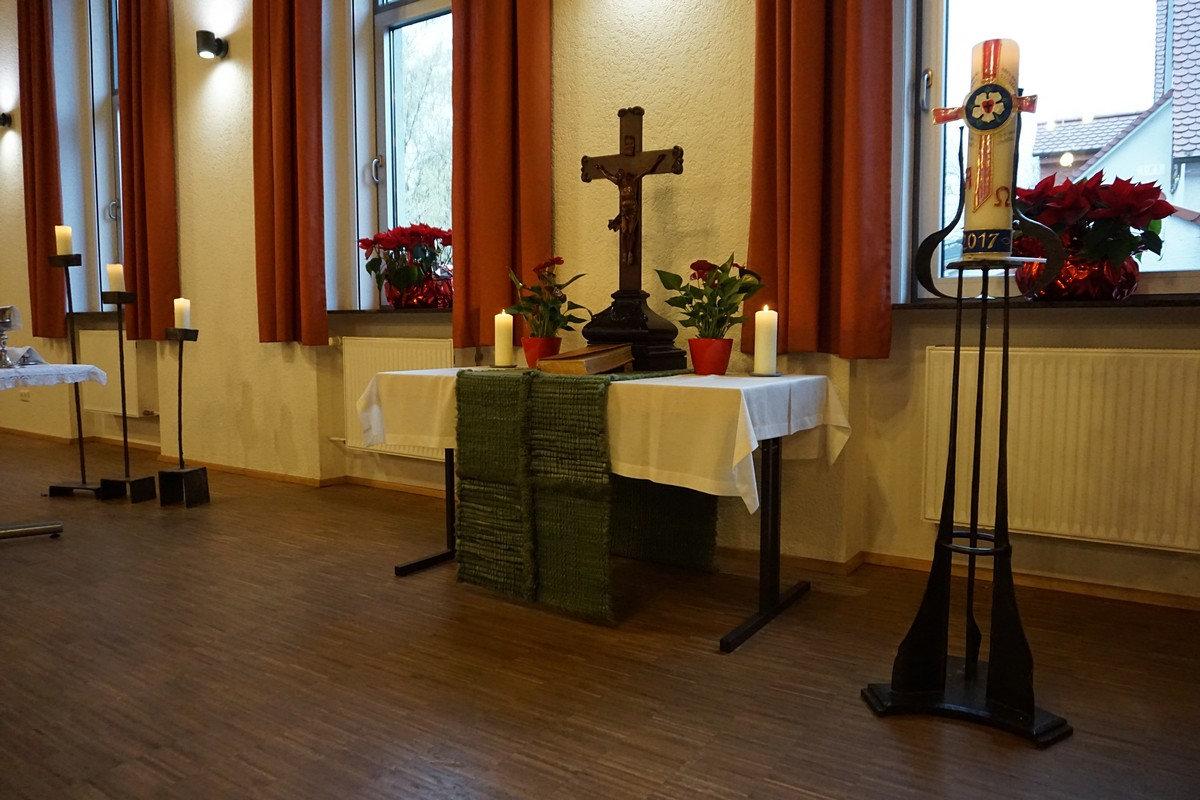 Altar Winterkirche 2018; Quelle: Wolfgang Leucht